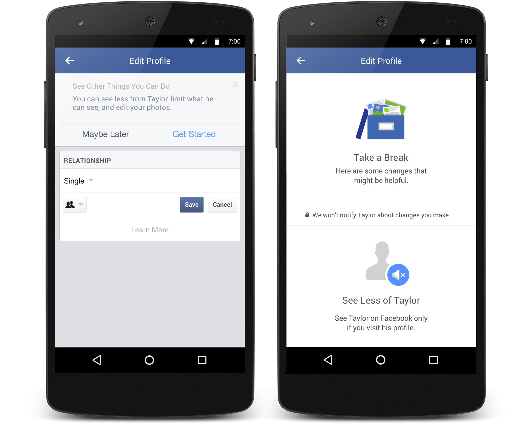 Facebook : une fonctionnalité pour mieux vivre les ruptures amoureuses