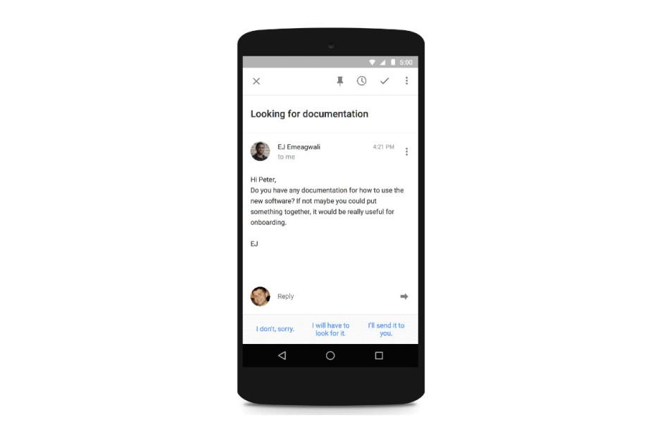 Inbox by Gmail inaugure les réponses rapides