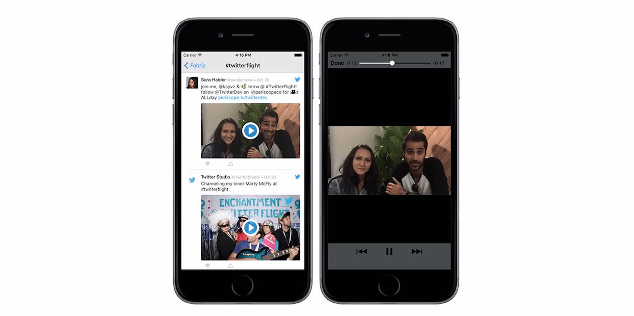 Twitter Kit intègre désormais nativement les formats vidéo