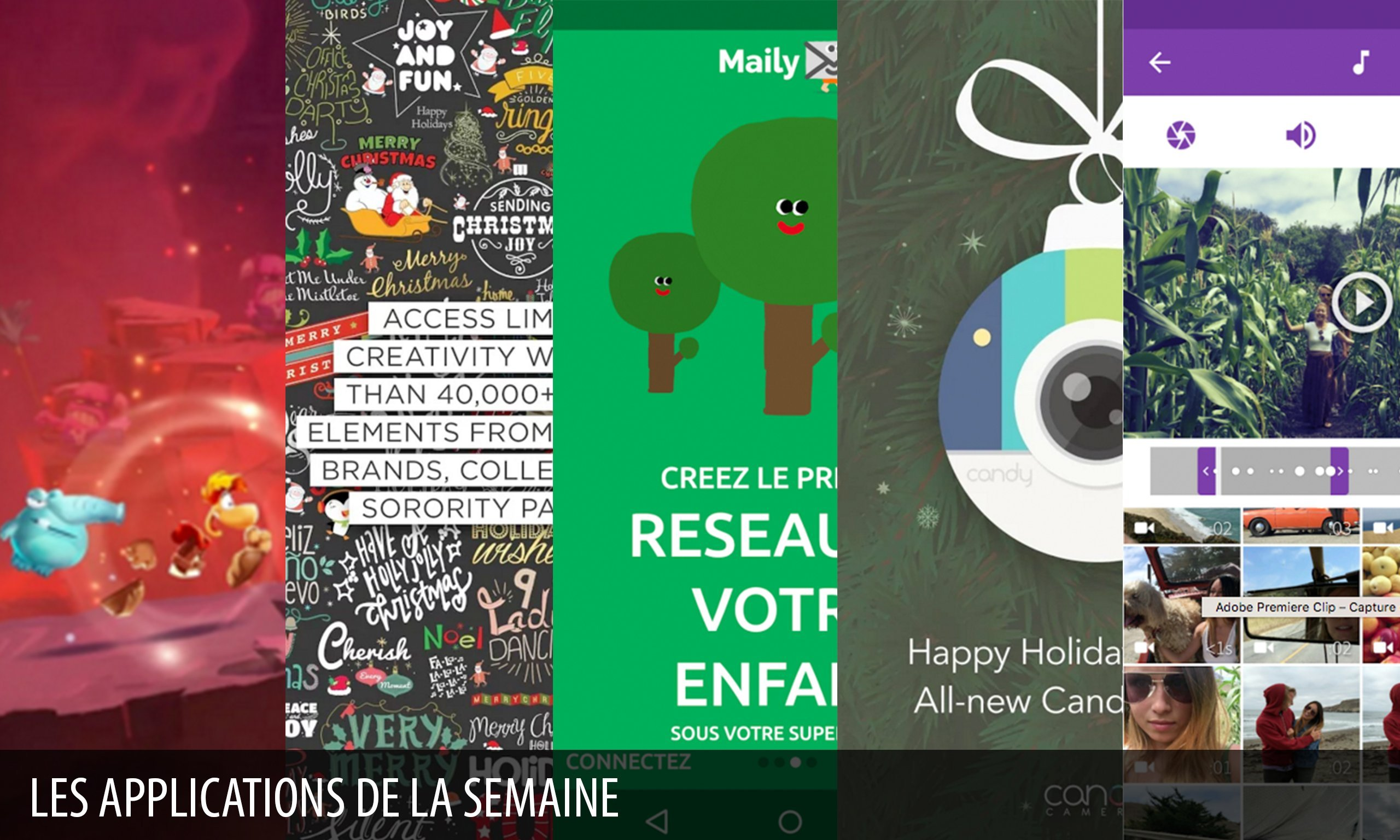 Les apps de la semaine : Adobe Premiere Clip, Rayman Adventures…
