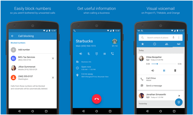 Google : les applications téléphone et contacts arrivent sur le Play Store