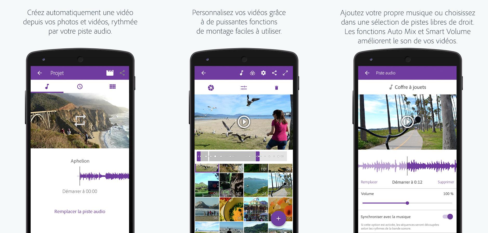 Adobe Premiere Clip : une version mobile pour le célèbre éditeur vidéo