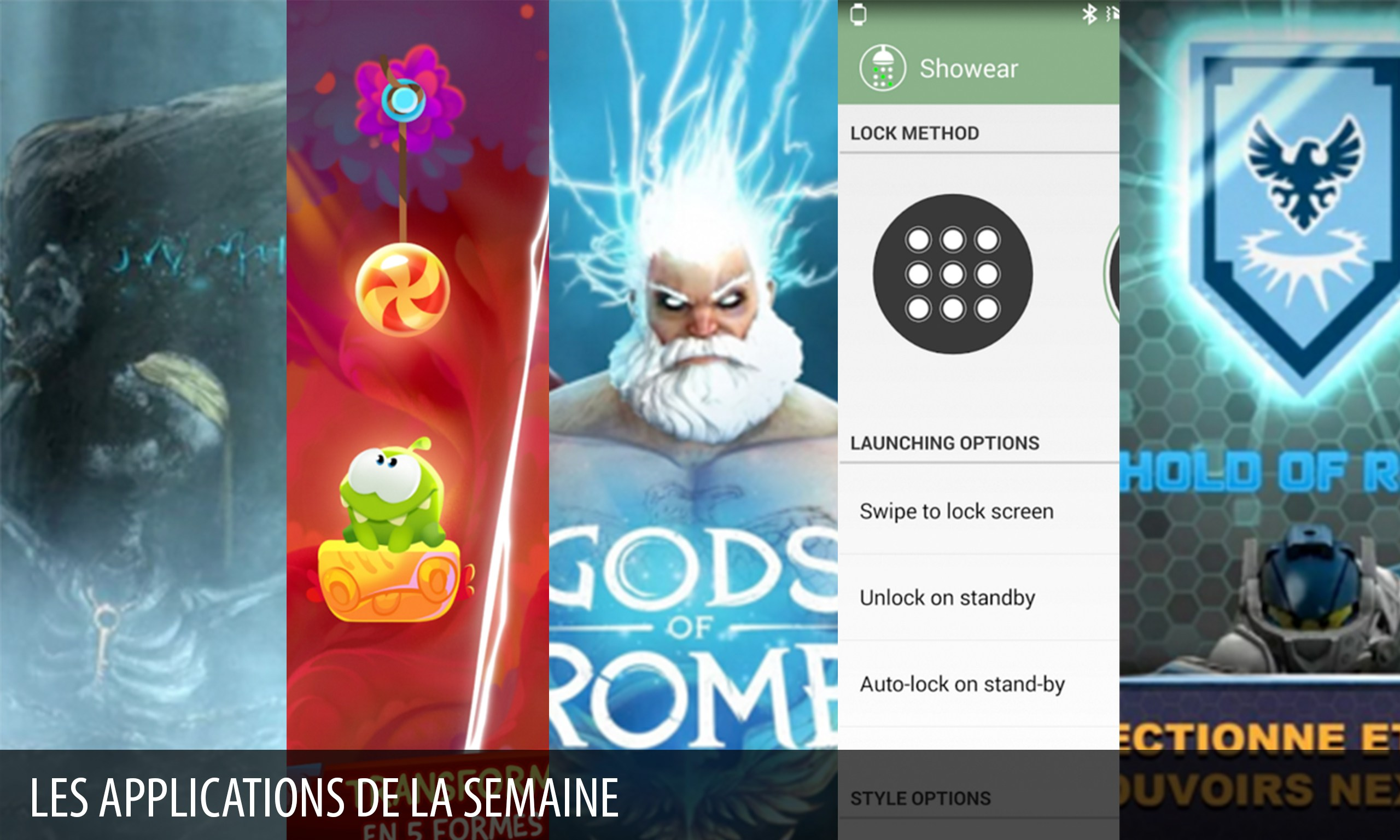 Les apps de la semaine : Gods of Rome, Shadowgate, Showear…