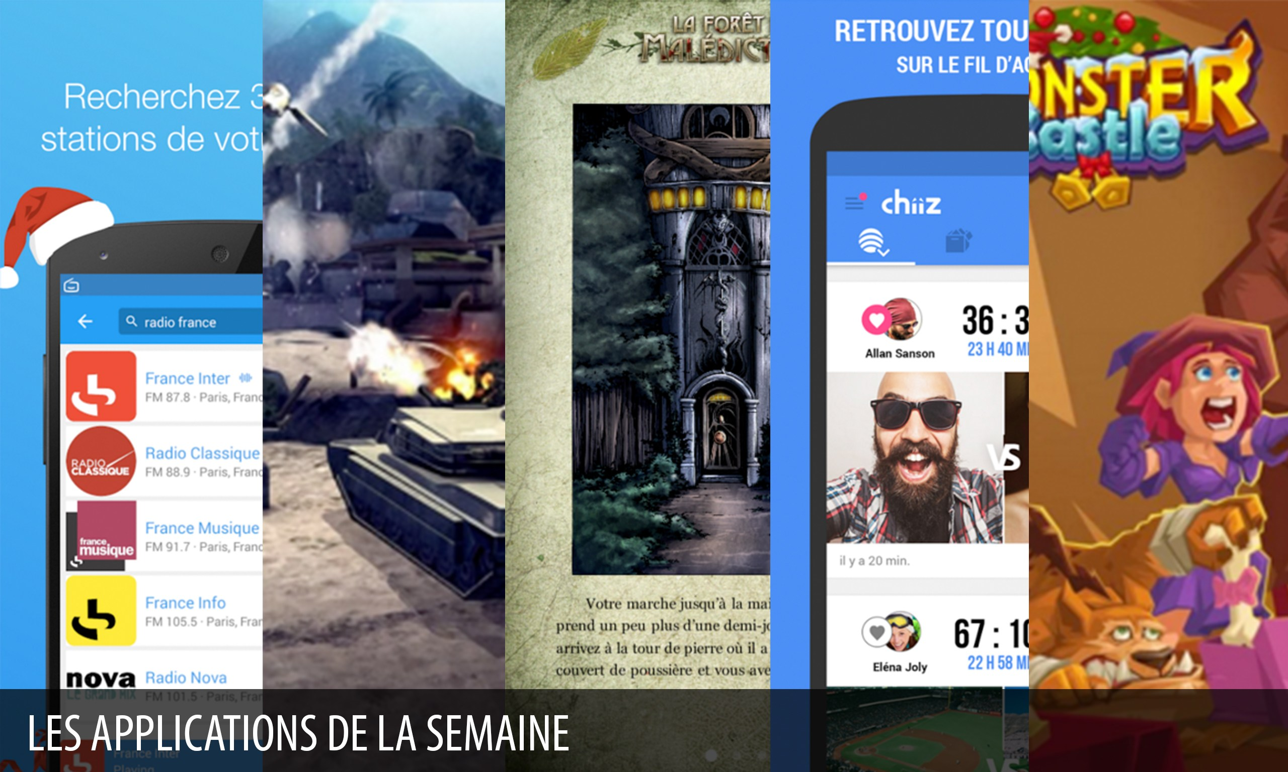 Les apps de la semaine : Modern Combat 4: Zero Hour, Chiiz…
