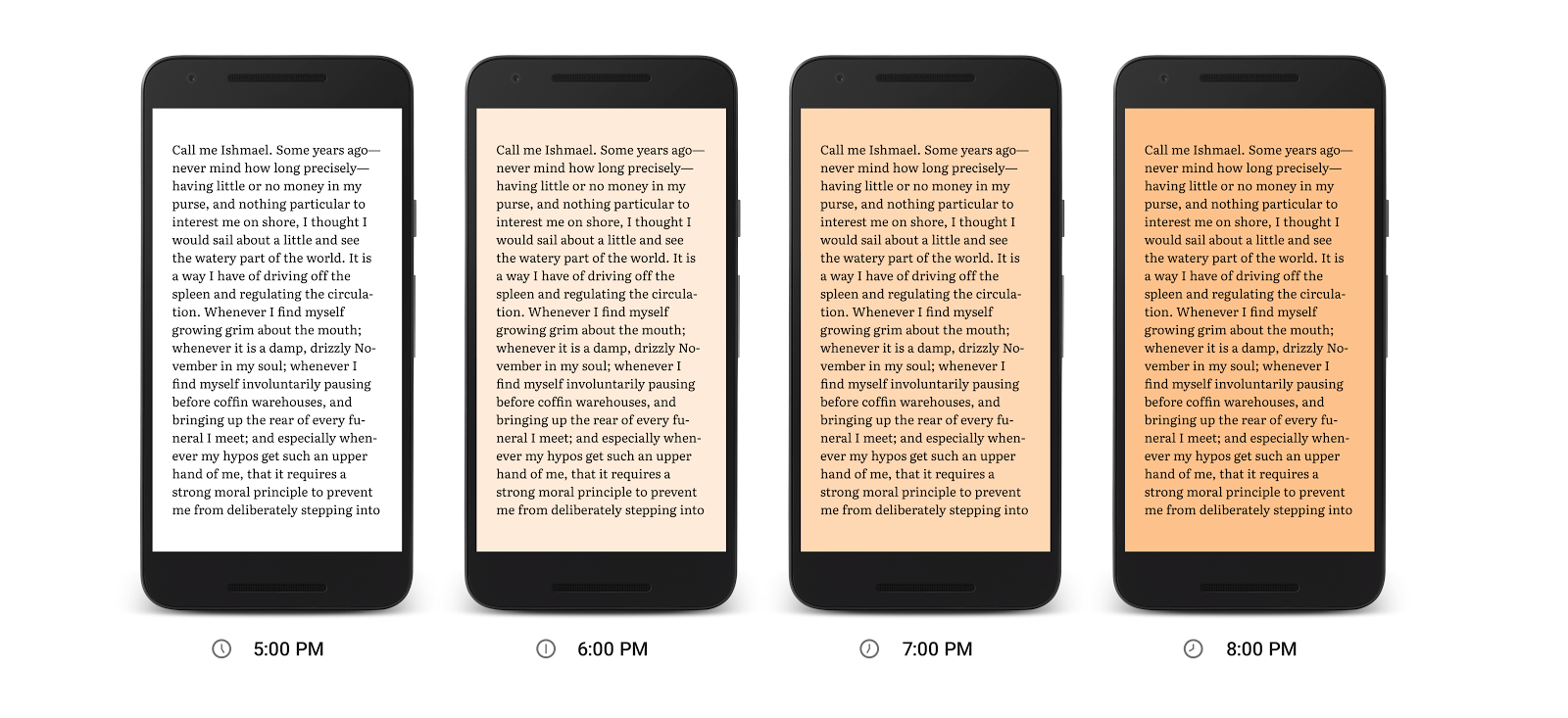 Night Light : Google encourage la lecture nocturne avec Play Livres (US)