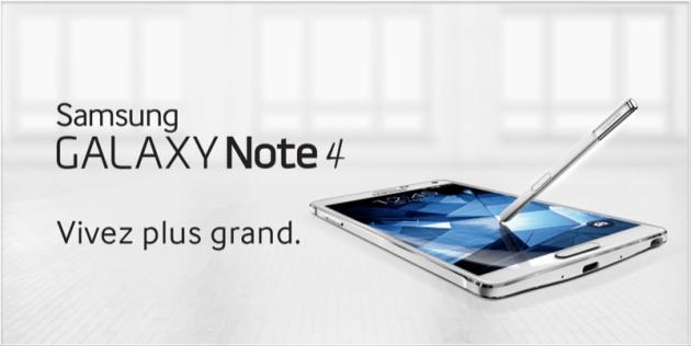 Bon plan : le Samsung Galaxy Note 4 est à 469 euros