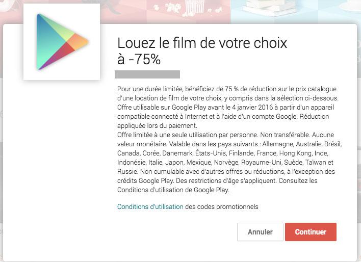 Play Films : la VoD de Google lance également sa promotion de Noël