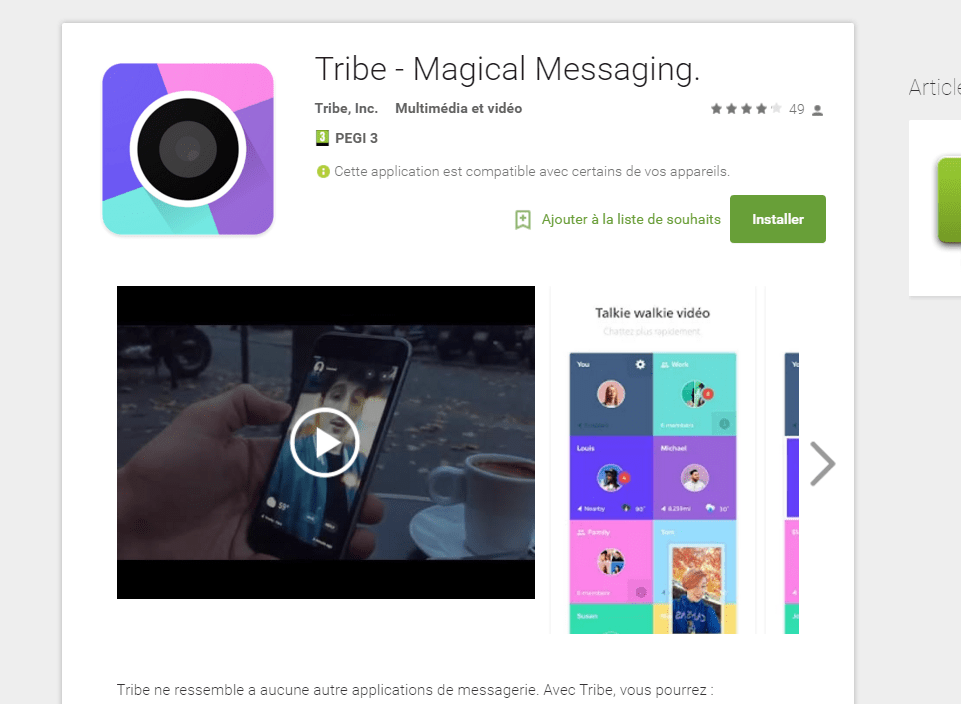 Tribe, le talkie-walkie remis au goût du jour