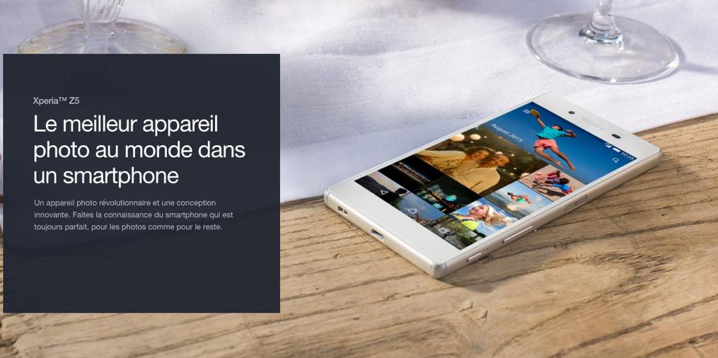 Bon plan : le Sony Xperia Z5 est à 505 euros jusqu'à dimanche soir