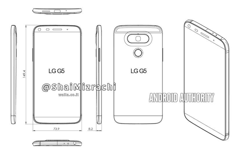 LG G5 : des croquis pour mieux imaginer son design
