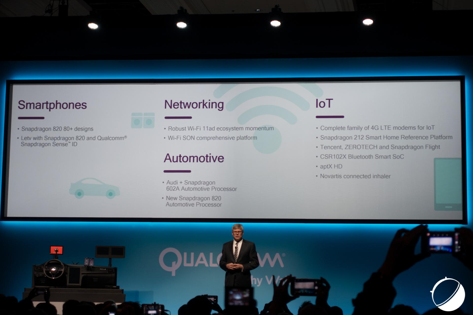 CES 2016 : Qualcomm met le cap sur les voitures et les drones