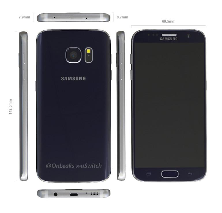 Samsung Galaxy S7 : une sortie en mars et une face avant déjà connue ?