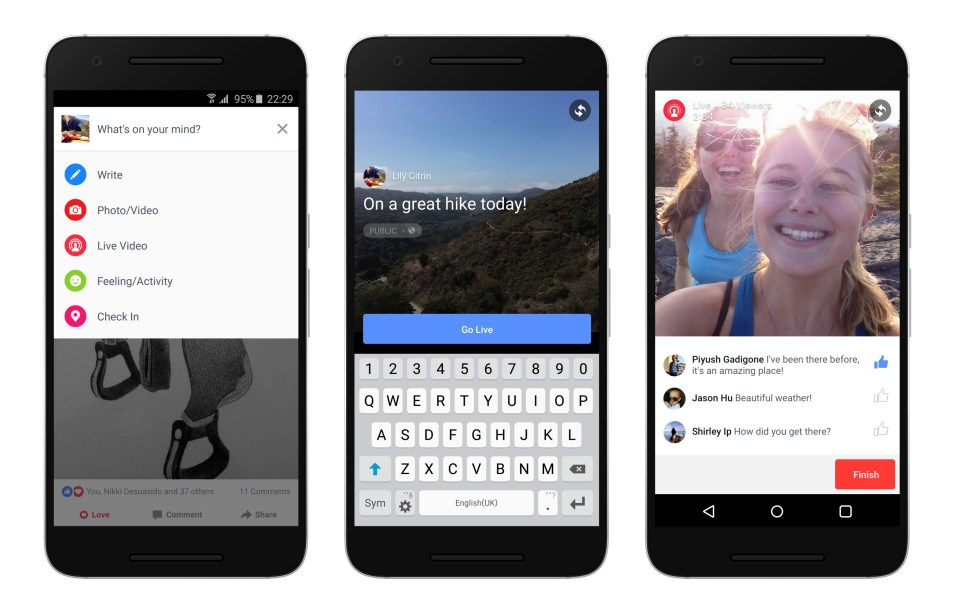Facebook Live : le Periscope-like arrive sur Android