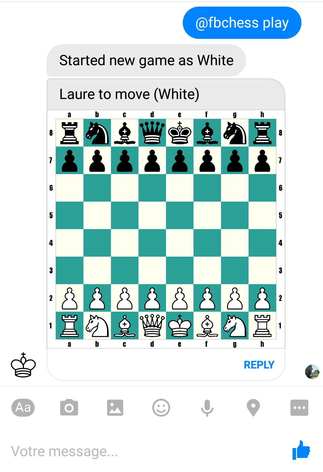 Et si on jouait aux échecs sur Facebook Messenger ?