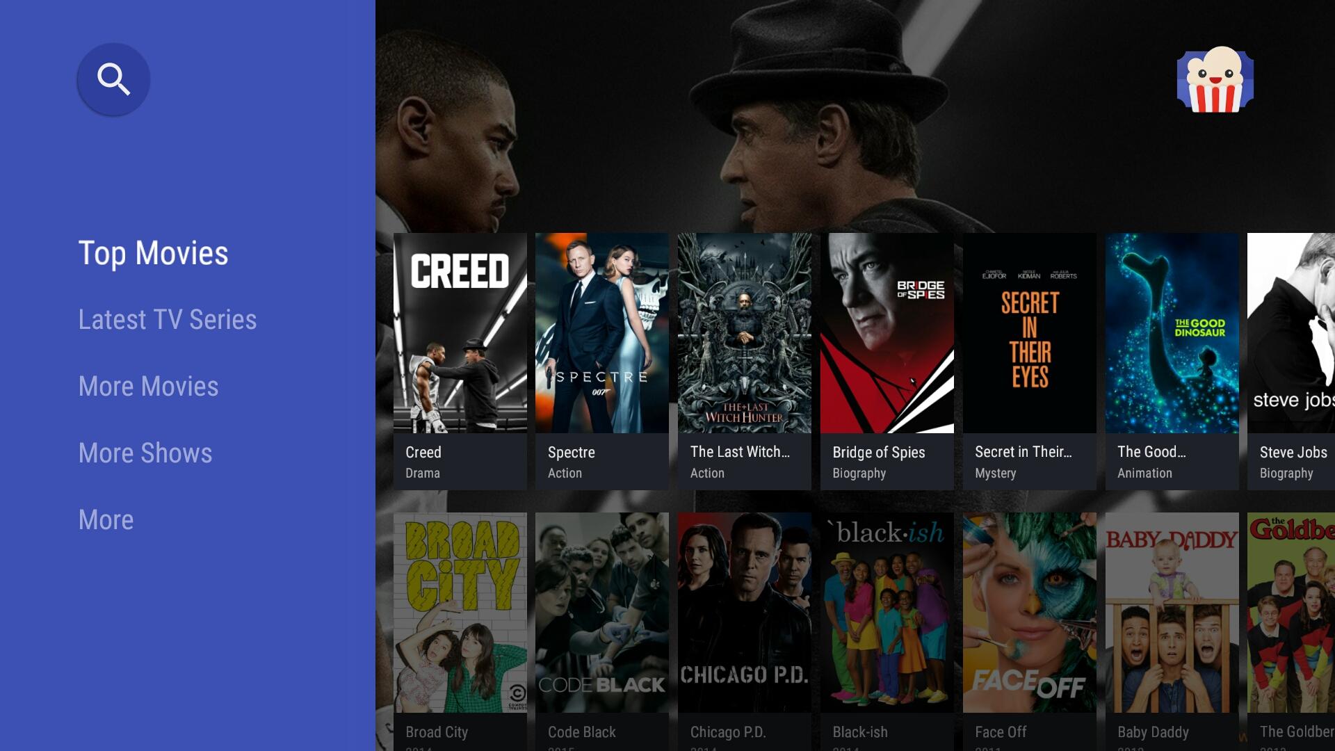 Popcorn Time est de retour, fonctionnel sur Android TV mais avec un gros bémol