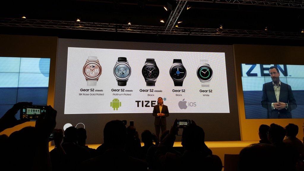 Samsung Gear S2 : le support d'iOS, c'est pour le mois de mars