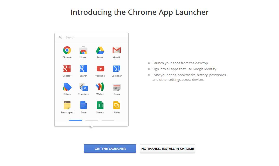 Le lanceur Chrome App va fermer ses portes dans une totale indifférence