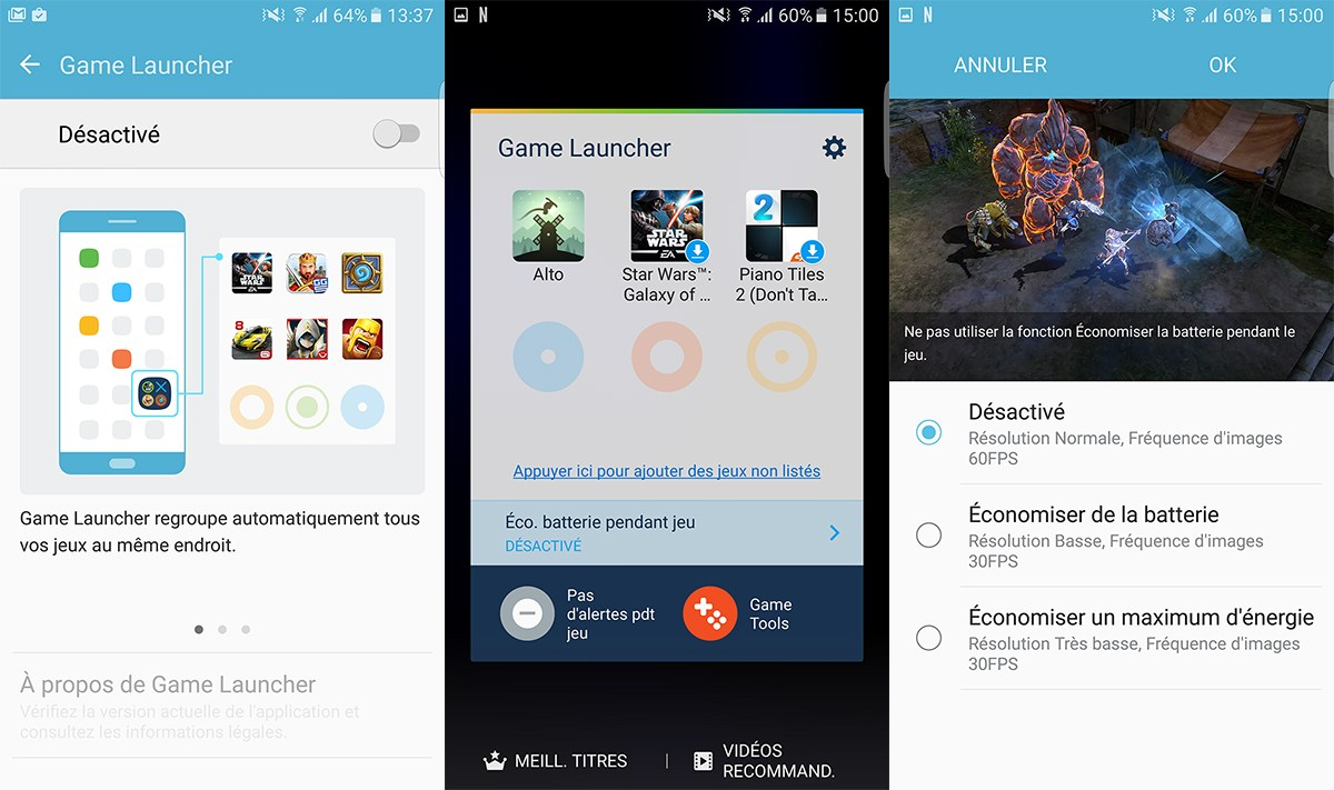 Samsung Galaxy S7 : comment activer le Game Launcher ?