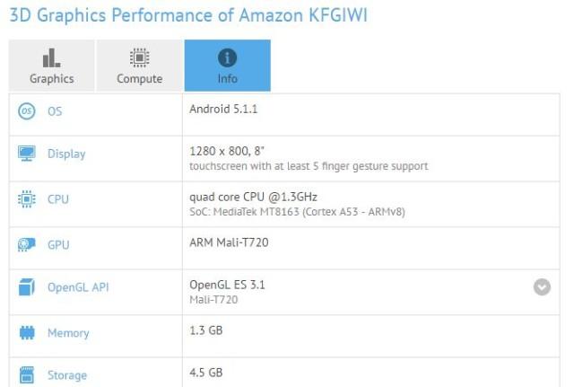 Une nouvelle Amazon Fire HD 8 fait sa première apparition