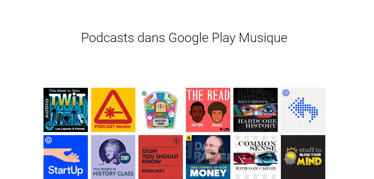 Google Music : la rubrique Podcasts est lancée, mais réservée aux États-Unis et au Canada