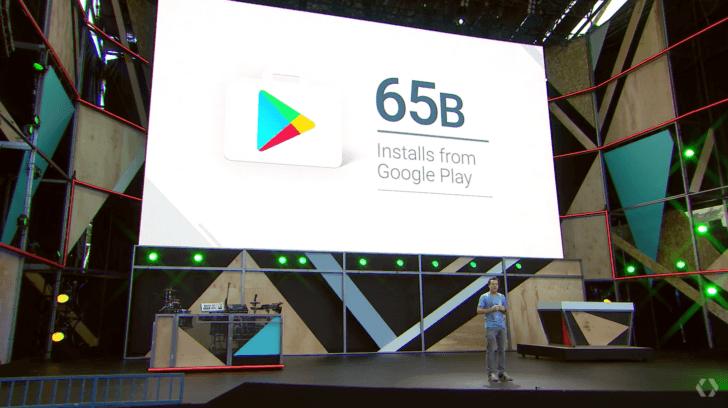 Android, c'est 600 modèles de smartphones en 2015 et 65 milliards d'apps installées