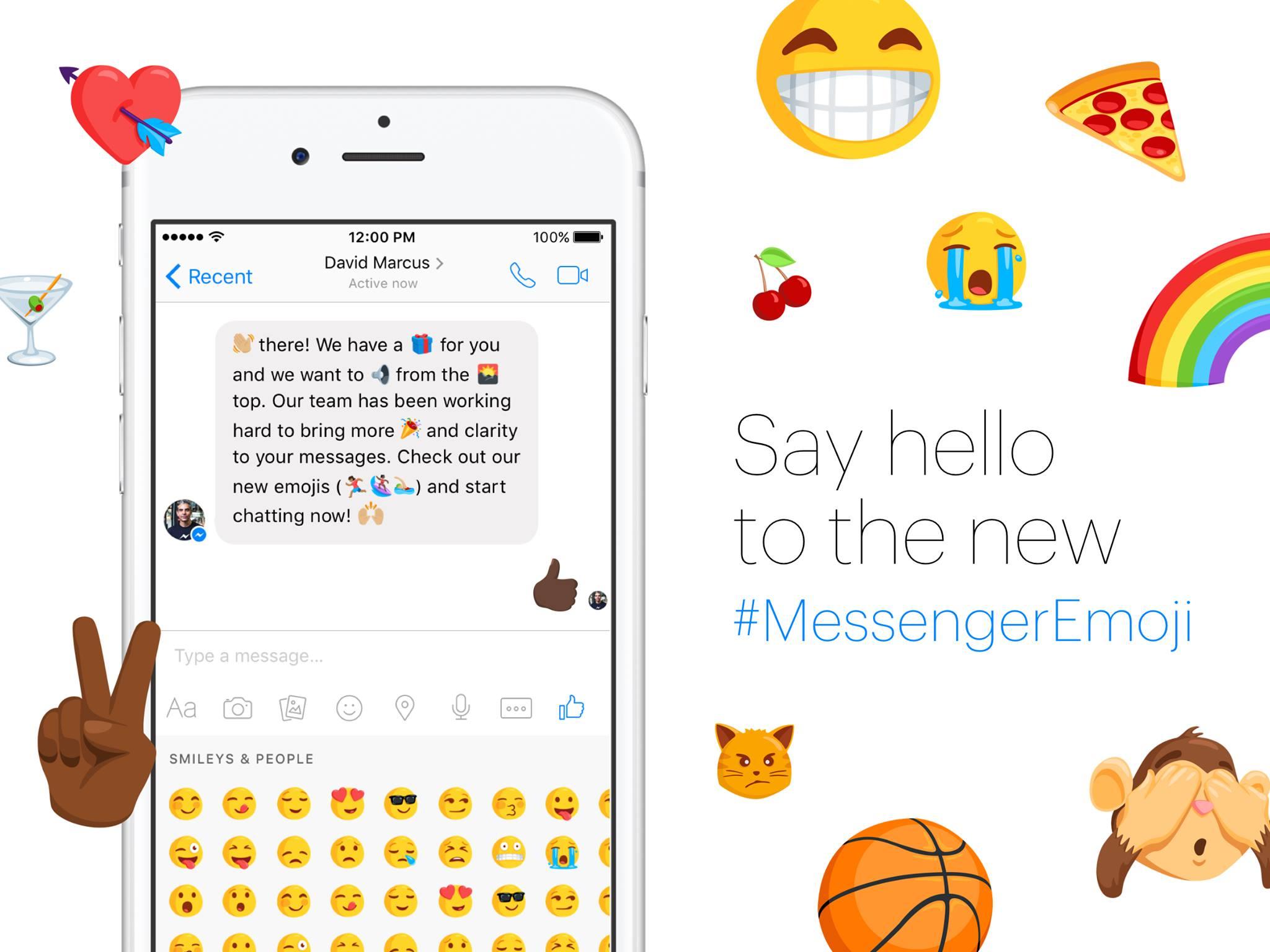 Facebook Messenger accueille 1500 nouveaux emojis, plus féminins et plus diversifiés