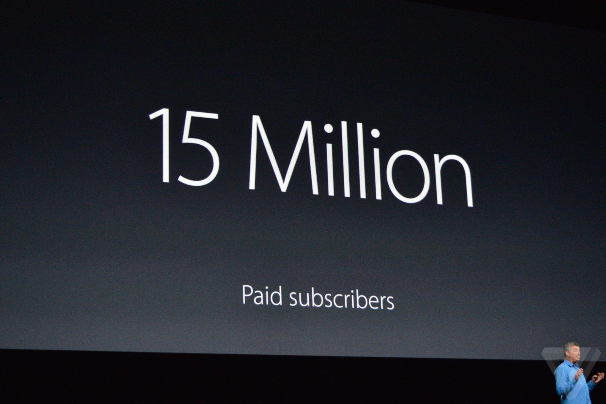 Apple Music dépasse les 15 millions d'abonnés payants, Spotify dans le viseur