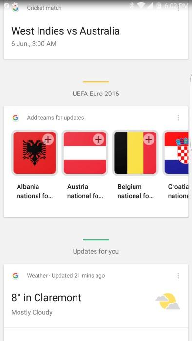 L'Euro 2016 se suivra aussi sur Google Now