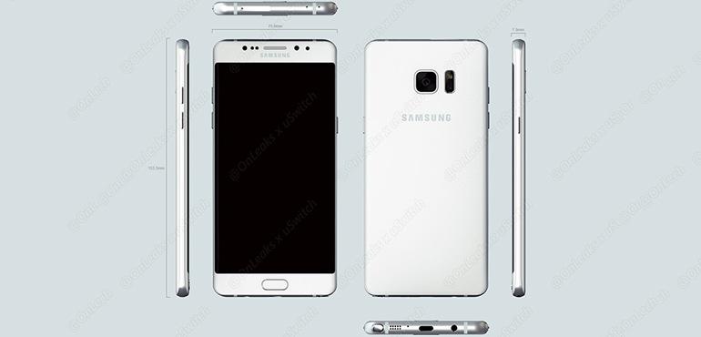 Samsung Galaxy Note 6 (ou Note 7 ?) : un premier rendu 3D de la phablette