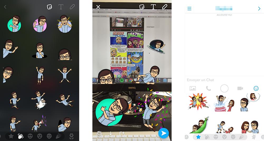 Snapchat intègre Bitmoji pour envoyer des «friendmojis» à ses amis