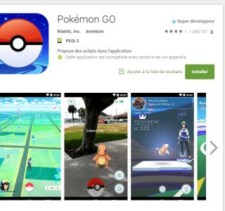 Pokémon Go est disponible officiellement sur Android et iPhone en France