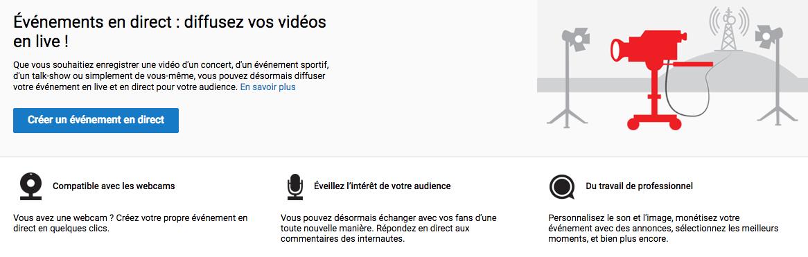 Google passe de Hangouts à YouTube En direct pour les évènements vidéo
