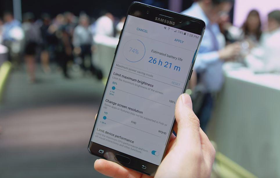 L'affichage du Samsung Galaxy Note 7 peut passer à une définition HD