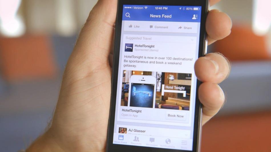 Facebook veut des publicités plus adaptées à la navigation mobile