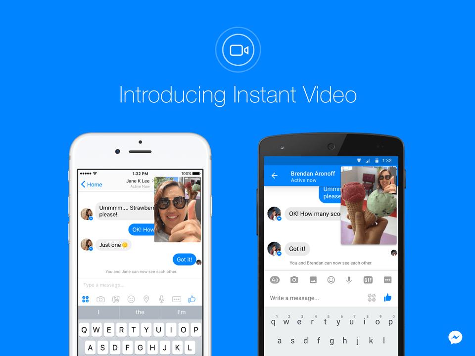 Instant Video, une nouvelle fonction de Messenger pour faciliter nos communications