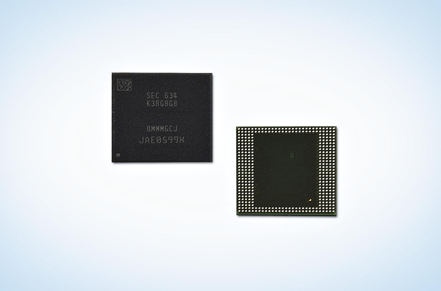 Samsung débute la production de puces LPDDR4 de 8 Go