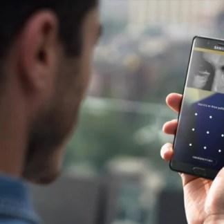 Zoom sur le capteur d'iris du Samsung Galaxy Note 7