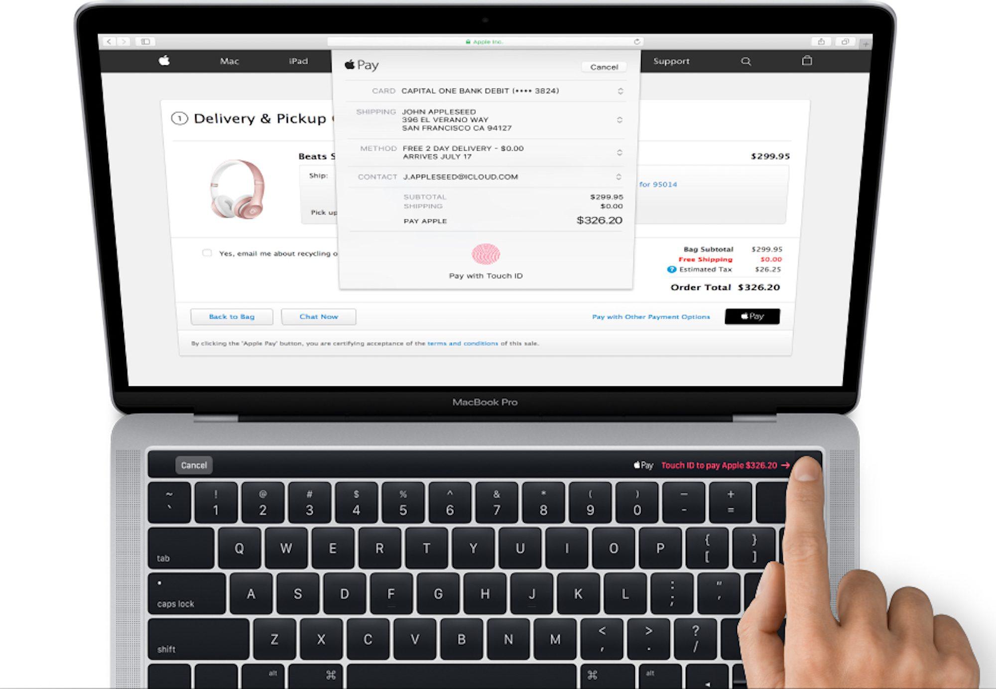 Apple dévoile avant l'heure la barre OLED et le capteur d'empreintes des MacBook Pro