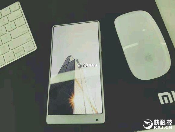 Le Xiaomi Mi MIX sans bordures existe également en blanc avec son écran 2K
