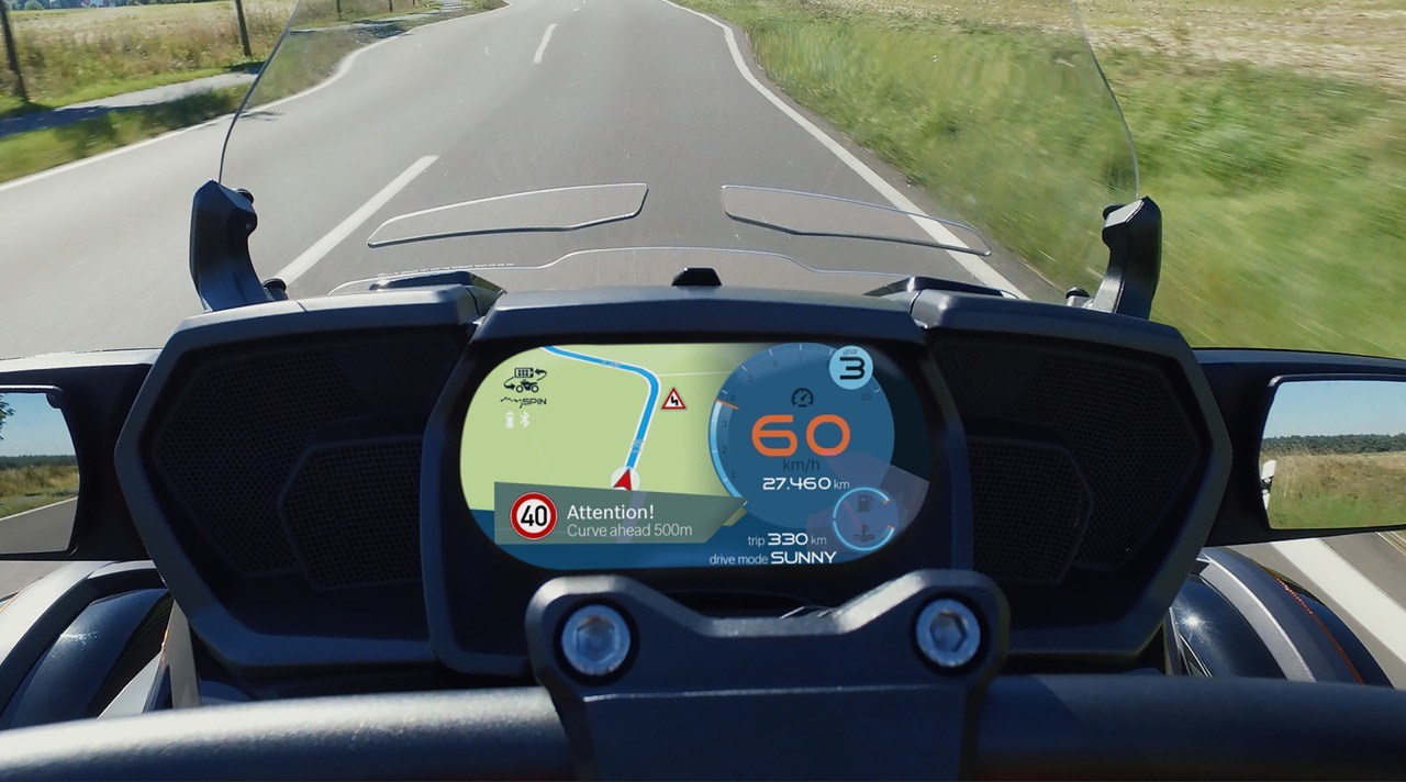 Bosch déporte l'écran des smartphones sur les motos et scooters, notamment chez BMW