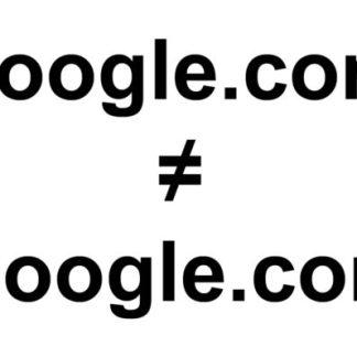 ɢoogle.com n'est pas Google.com