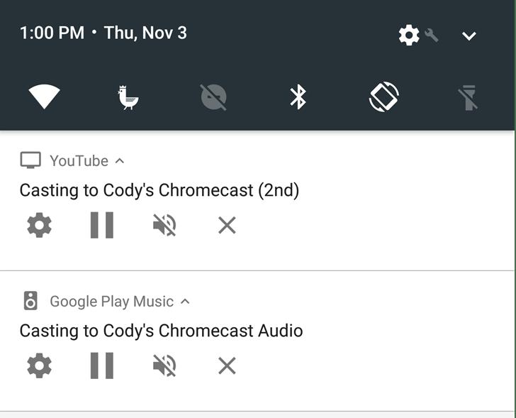 Pilotez votre chromecast depuis la barre de notification d'Android