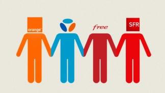 Parts de marché des opérateurs : Orange loin devant Bouygues qui dépasse Free Mobile