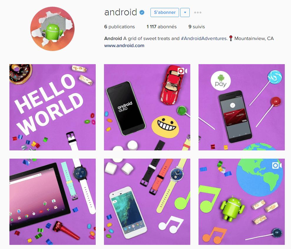 Android débarque sur Instagram