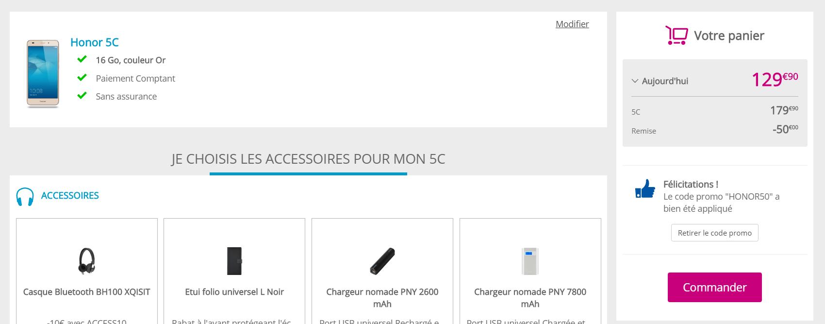 🔥 Bon plan Black Friday : Honor 5C à 129 euros chez Bouygues Telecom (débloqué)