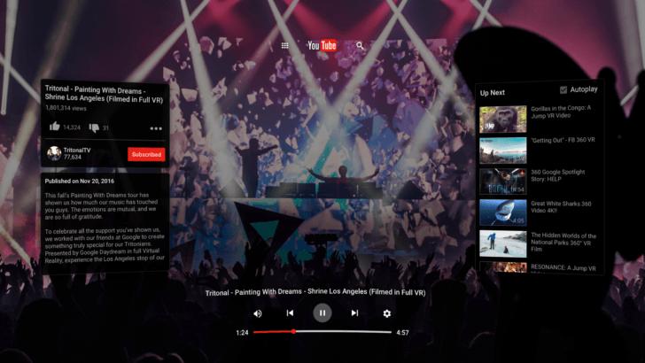 YouTube VR est disponible sur le Play Store pour des vidéos en réalité virtuelle