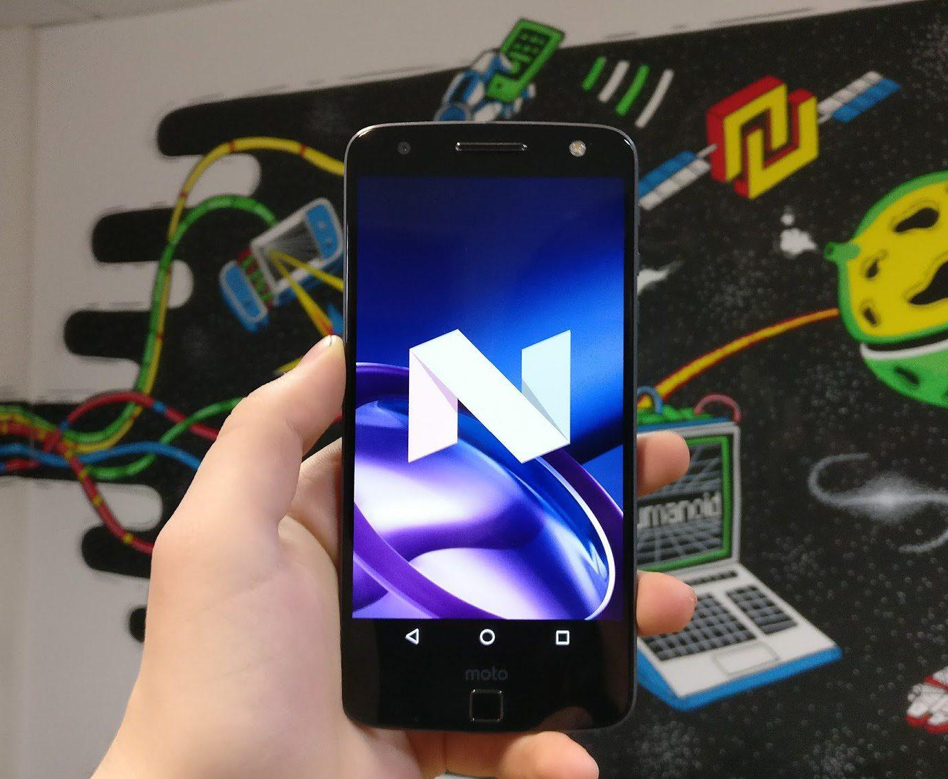 Nougat est disponible sur le Moto Z, quelles sont les nouveautés ?