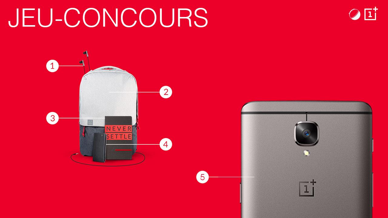Jeu-concours : remportez un OnePlus 3T avec la panoplie OnePlus