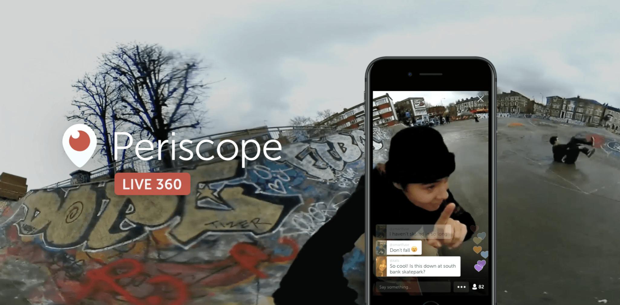 Periscope supporte maintenant les vidéos à 360 degrés