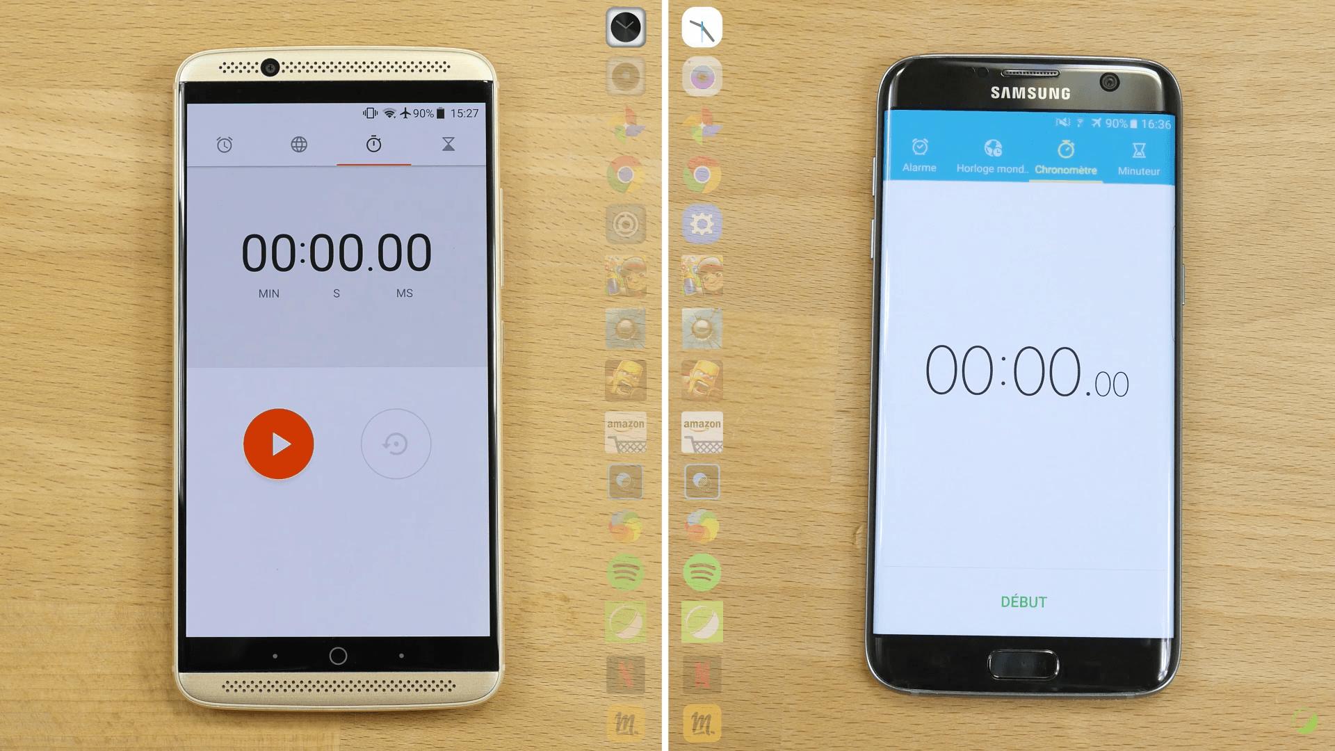 Vidéo : ZTE Axon 7 vs Galaxy S7 Edge, qui sera la plus rapide ?